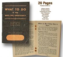 What to Do in any Emergency WWII Booklet